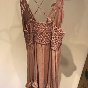 Free People Dresses - new free people adella crochet slip dress